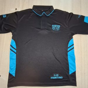 Adults and Kids Polo Shirts – Black/Blue – Adult $35/Kids $25